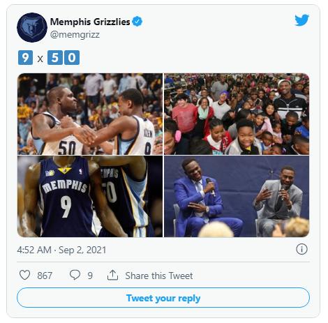 vente maillot Memphis Grizzlies